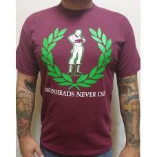 triko Skinheads never Die - oxblood