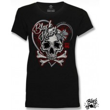 T-shirt Black Heart  ladies  Made in Hell  since 06