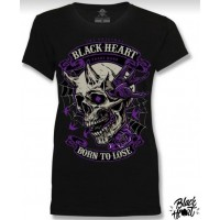 T-shirt Black Heart  ladies  Born to Lose