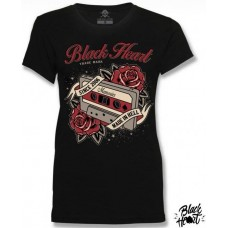T-shirt Black Heart Trade Mark ladies  Made In Hell  since 2006