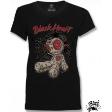 T-shirt Black Heart  ladies  Dolly