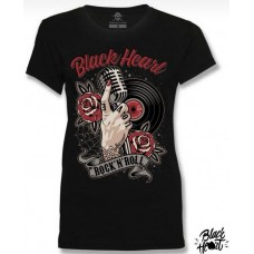 T-shirt Black Heart  ladies  Rock´n´Roll