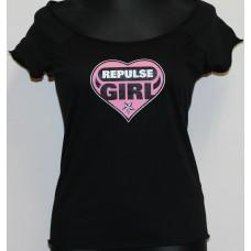 T-shirt Repulse Girly  Black  heart