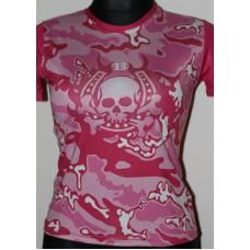 T-shirt  Repulse Girly   pink skull