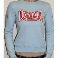 Mikina Lonsdale light blue / red  ladies