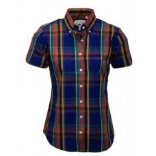 Relco London shirt  Blue Orange Ladies