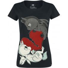 tričko Girly Unicorn Fight Heart Tshirt Cupcake Cult
