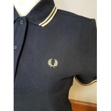 Polo Shirt Fred Perry Womens  Navy Gold