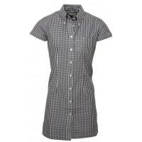Relco London long dress shirt   Gingham Black