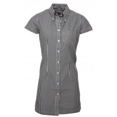 Relco London long dress shirt   Gingham Black