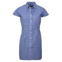 Relco London long dress shirt   Gingham Blue