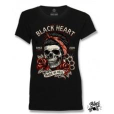 T-shirt Black Heart  ladies  Jenny Skull