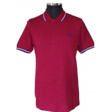 Polo Shirt  Warrior Clothing - Soul 45 Polo Keep the Faith Burgundy