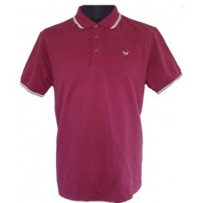 Polo Shirt  Warrior Clothing Twin Tipped Polo Shirt Burgundy
