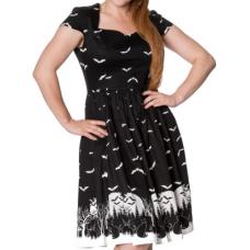 šaty Banned Rockabilly Crow Dress