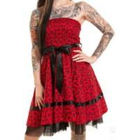 Šaty Rockabilly Holly Dress RED