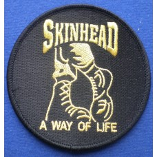 P248 - SKINHEAD BOOTS PATCH BLACK