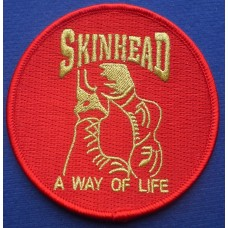 P259 - SKINHEAD BOOTS PATCH RED