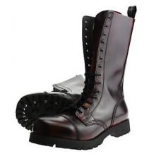 Boty Boots & Braces Burgundy 14 dírek