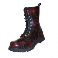 Boty Boots & Braces Burgundy 10 dírek