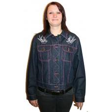 džínová bunda  - vlaštovky