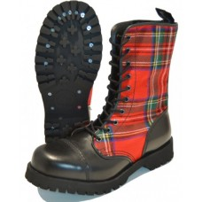 boty Boots and Braces tartan