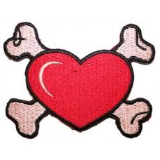 nášivka Crossed heart