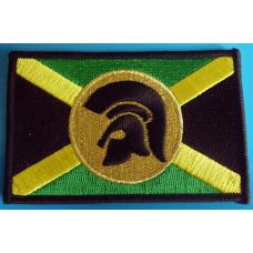 P136 nášivka TROJAN JAMAICAN FLAG PATCH