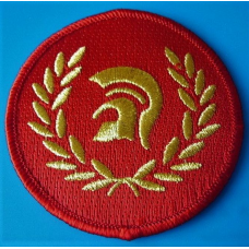 P158 nášivka SKINHEAD TROJAN PATCH - RED