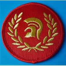 P158 nášivka SKINHEAD TROJAN PATCH - RED