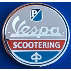 odznak  SC109 - VESPA SCOOTERING - PIAGGIO