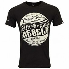 T-shirt Yakuza Burning Rebels BLACK
