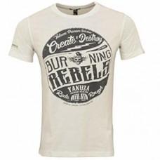 T-shirt Yakuza Burning Rebels White