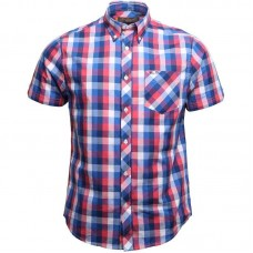 short sleeve shirt Ben Sherman Blue Red White