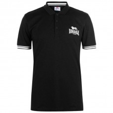Men's Slim Fit Polo Shirt Lonsdale Black / White