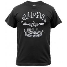 T-shirt  Alpha Industries FJT BLACK