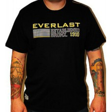 Triko Everlast black / yellow sign