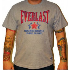Triko Everlast grey / red sign