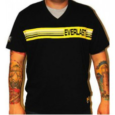 Triko Everlast black / yellow sign V neck