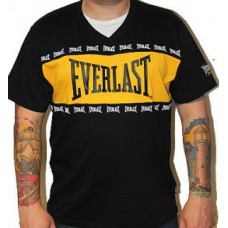 Triko Everlast black / yellow stripe