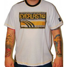 Triko Everlast white / yellow retro