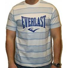Triko Everlast white blue stripes