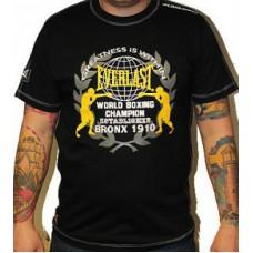Triko Everlast black yellow boxing