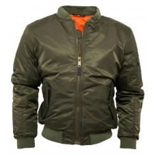 Bomber Jacket MA1 Relco London Bottle Green
