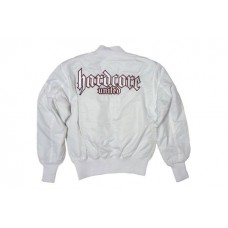 Hardcore United bomber MA1 - white