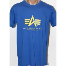 T-shirt Alpha Industries classic Pacific blue