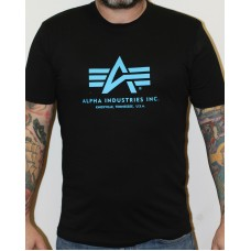 T-shirt Alpha Industries classic  Black / Blue