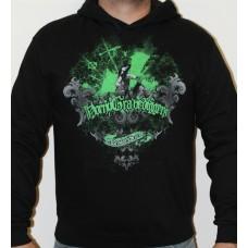 hoodie  Repulse  black green