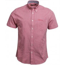 short sleeve Shirt  Ben Sherman button down Red
