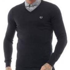 Fred Perry jemný pletený svetr Black